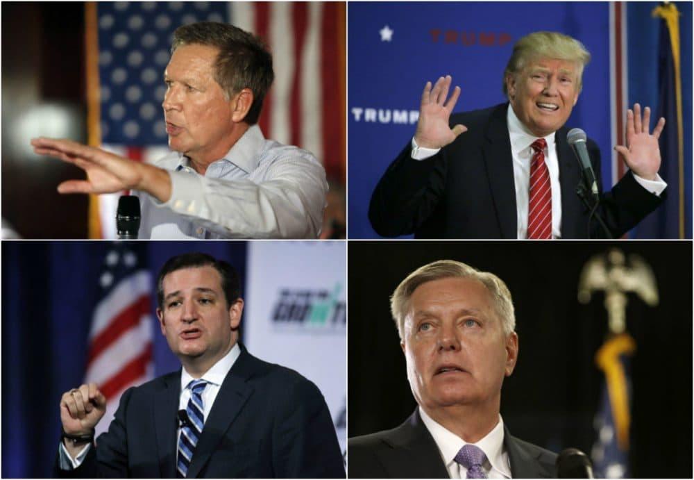 Clockwise, from top left: Ohio Gov. John Kasich, Donald Trump, South Carolina Sen. Lindsey Graham and Texas Sen. Ted Cruz (AP)