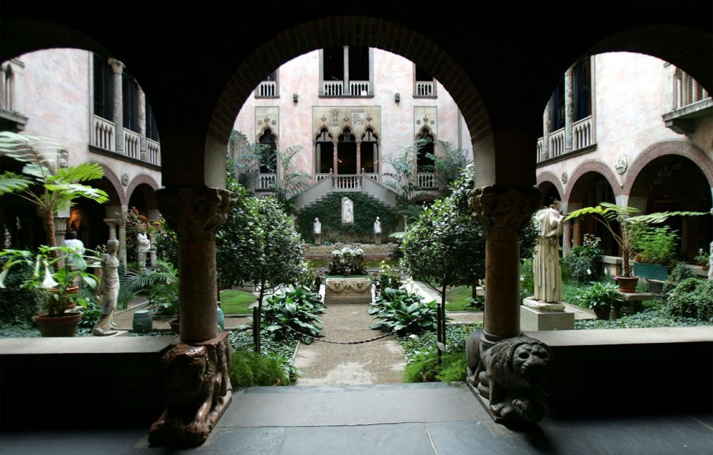 The courtyard at Isabella Stewart Gardner Museum in Boston,  Tuesday, Nov. 30, 2004.   Gardner was born in 1840 and became one of the foremost female patrons of the arts and also a supporter and friend of leading artists and writers of her time, including John Singer Sargent, James McNeill Whistler and Henry James.   (AP Photo/Chitose Suzuki)