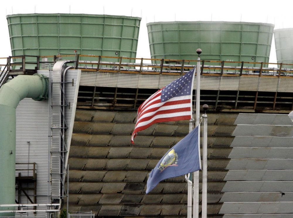 Vermont Yankee nuclear plant closed last year but is not expected to be deconstructed until 2068.  (Toby Talbot/AP)