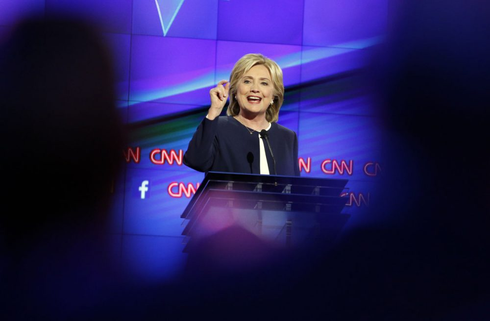 Hillary Clinton's debate experience showed during Tuesday night's Democratic presidential debate. She was calm, cool and collected, writes Democratic analyst Dan Payne -- and obviously the winner.  (John Locher/AP)