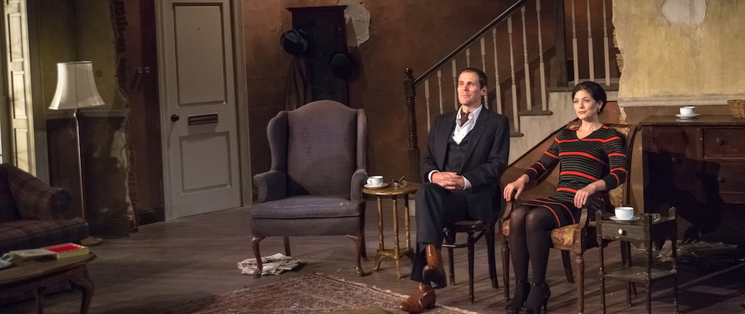 """Joey Collins and Tara Franklin in """"The Homecoming"""" at Berkshire Theatre Group's Unicorn Stage. (Courtesy Michelle McGrady/Berkshire Theatre Group)"""