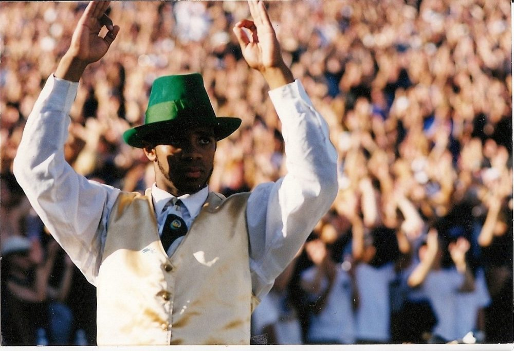Michael Brown was the first African-American to serve as the Notre Dame Leprechaun. (Courtesy Michael Brown)
