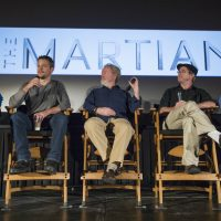 "Jacqueline Miller and Thomas Max Roberts: ""'The Martian' should be required viewing for all middle and high school students, and it should serve as a call to action for improving science education."" Pictured: NASA Astronaut Drew Feustel, left, Actor Matt Damon, Director Ridley Scott, Author Andy Weir, and Director of the Planetary Science Division at NASA Headquarters Jim Green, participate in a question and answer session about NASA's journey to Mars and the film ""The Martian,"" Tuesday, Aug. 18, 2015, at the United Artist Theater in La Cañada Flintridge, California. NASA scientists and engineers served as technical consultants on the film.  (Bill Ingalls/NASA)"