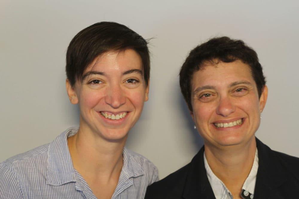Chris Barrett, left, and Susan Dackerman (StoryCorps)