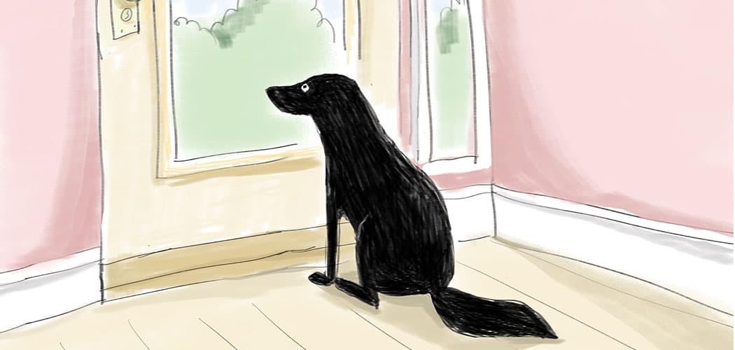 "From Mitra Farmand's comic book ""Dog."" (Courtesy)"