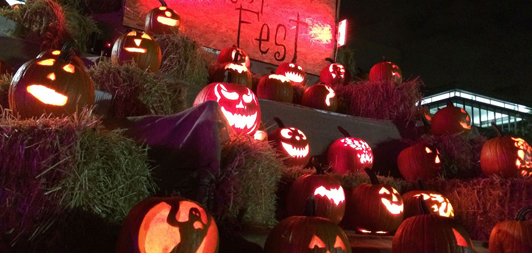"The jack-o'-lantern display at the 2014 ""Punkin' Fest"" at Lawn on D. (Courtesy)"