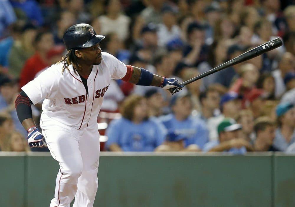 Boston Red Sox's Hanley Ramirez in Fenway Park. He will be tried out as first baseman next season. (AP Photo/Michael Dwyer)