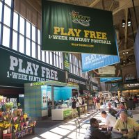 DraftKings advertisements in Boston's South Station are seen in 2015. (Jesse Costa/WBUR)