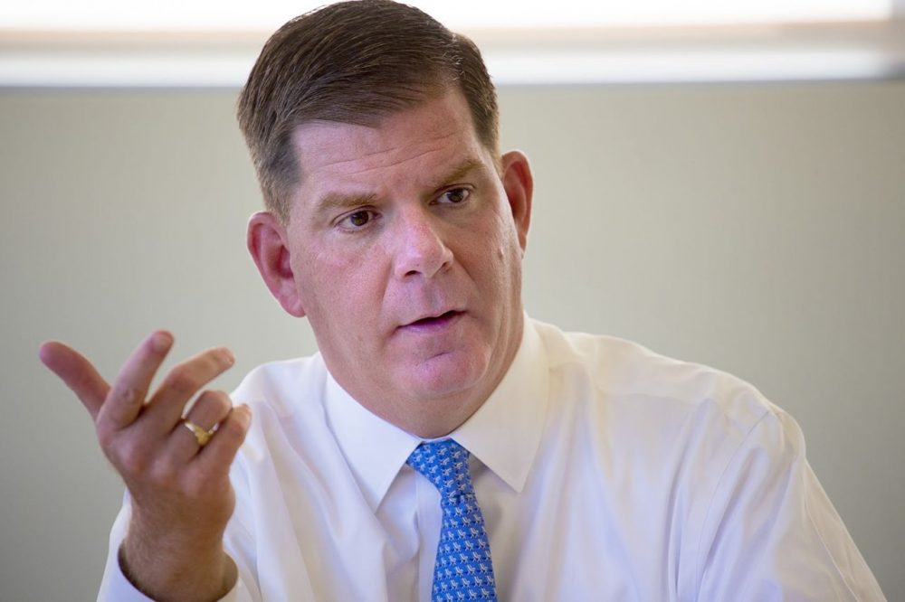 Boston Mayor Marty Walsh at the WBUR studios in October (Jesse Costa/WBUR)