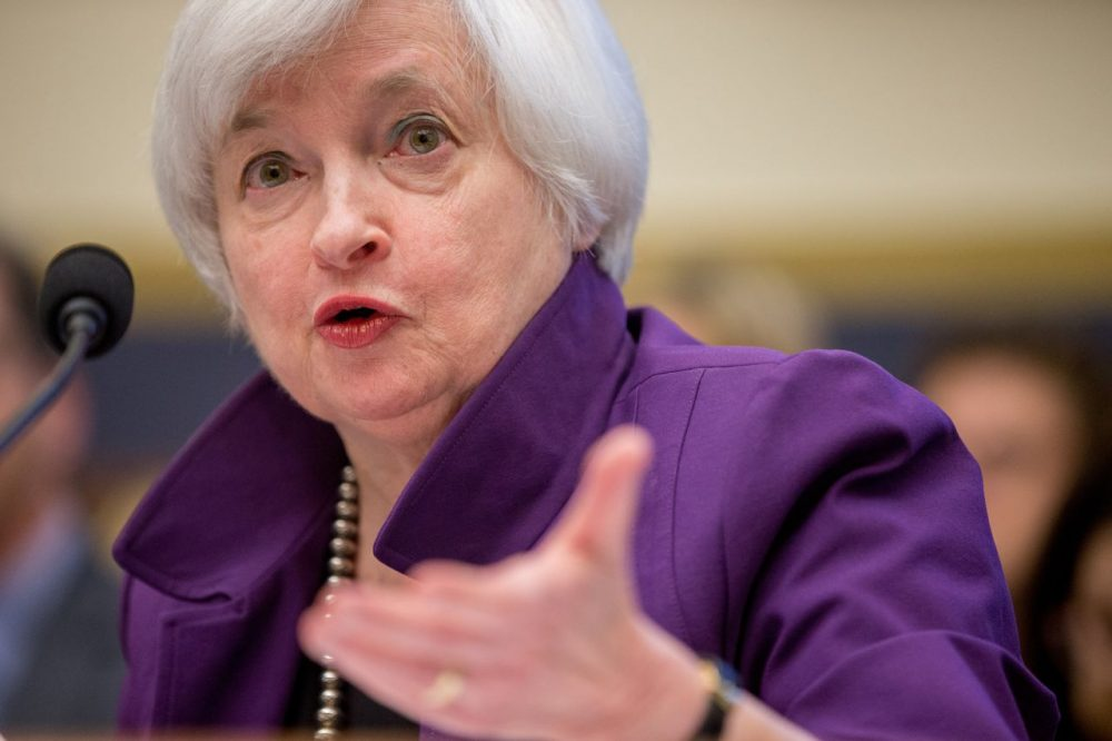Federal Reserve Chair Janet Yellen testifies on banking supervision Wednesday. (Andrew Harnik/AP)