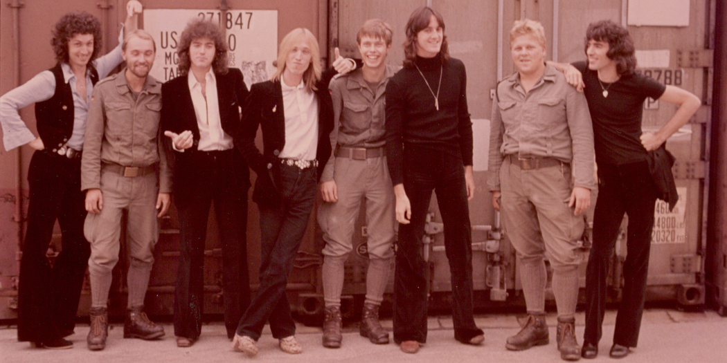 Tom Petty and the Heartbreakers in Germany in 1977. (Courtesy Henry Holt and Company)