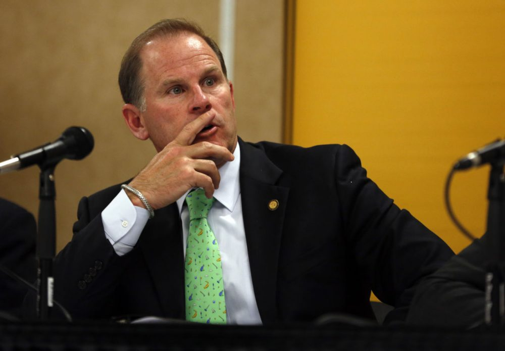 University of Missouri President Tim Wolfe is pictured on April 11, 2014 in Rolla, Mo. (Jeff Roberson/AP)
