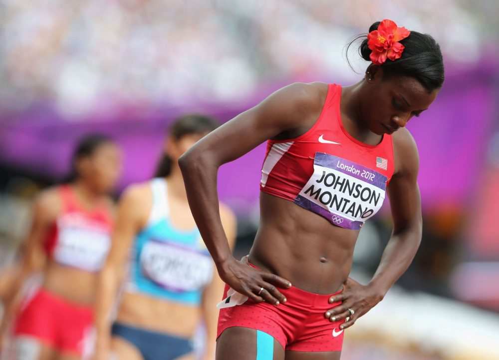 Alysia Montano placed fifth in the women's 800-meters during the 2012 summer games. Russian athletes placed first and third in that event--now there are allegations those athletes could have been part of a larger Russian doping program. (Streeter Lecka/Getty Images)