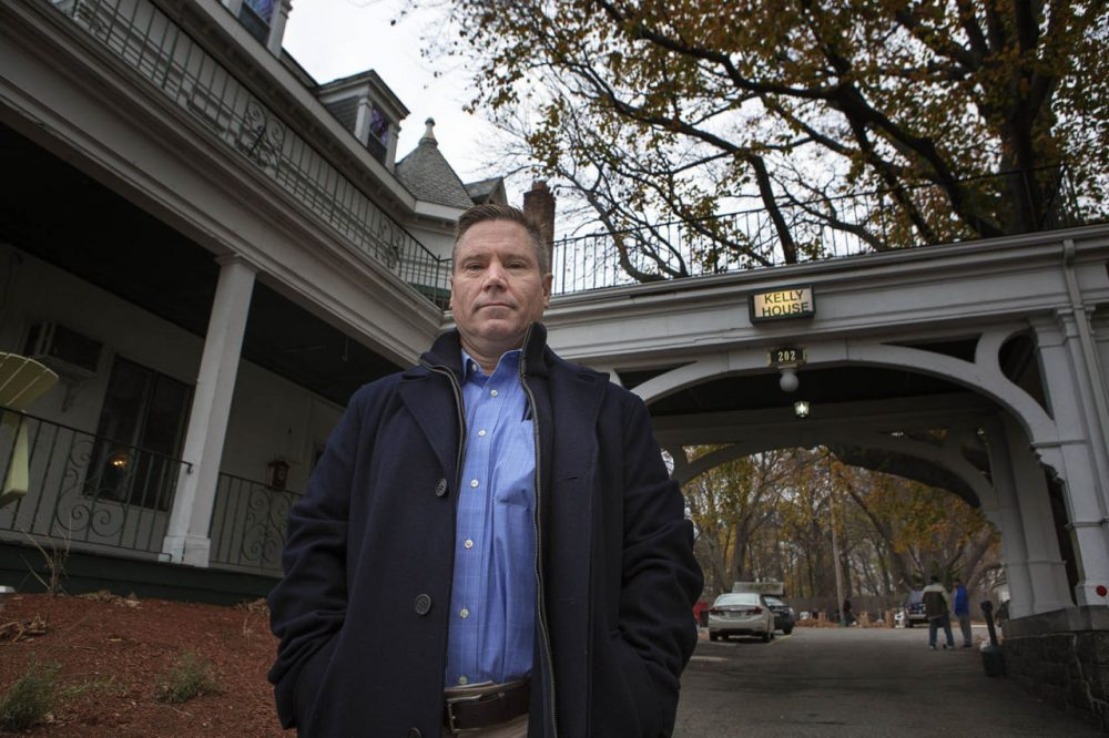 Rich Winant owns Kelly House, a sober home in Wakefield. (Jesse Costa/WBUR)