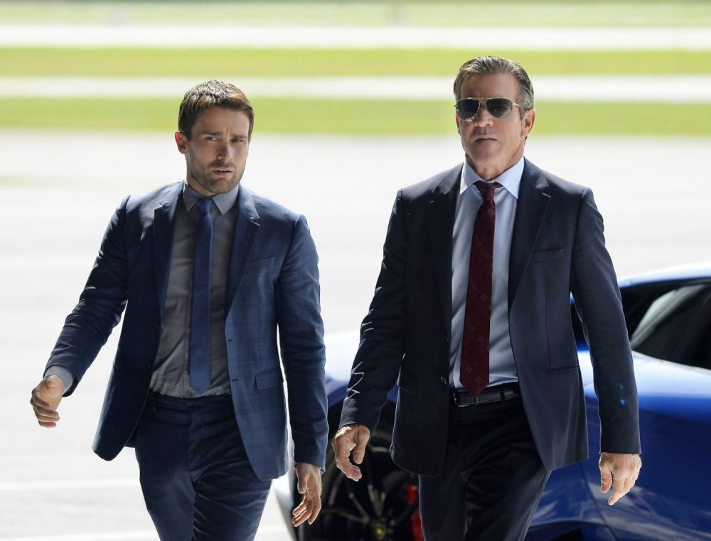 """Christian Cooke, left, and Dennis Quaid in a scene from """"The Art of More,"""" a 10-episode series from the streaming video network Crackle, premiering on Thursday.  (Philippe Bosse/Sony Pictures Television/AP)"""