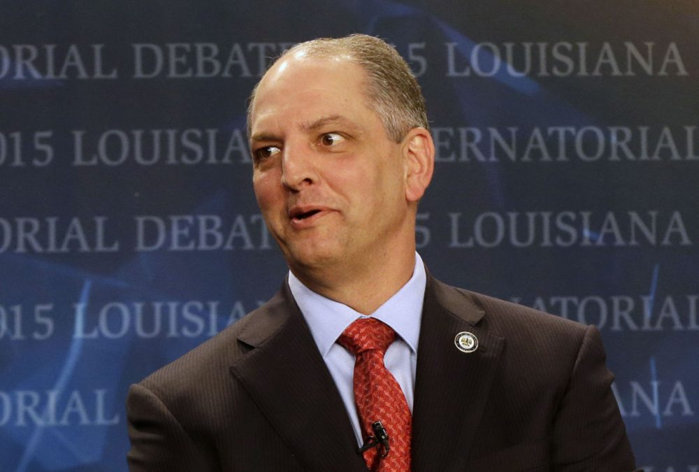 State Rep. John Bel Edwards, (D-Baton Rouge), is pictured before a debate, sponsored by WDSU television, in New Orleans, Thursday, Oct. 1, 2015. (Gerald Herbert/AP)
