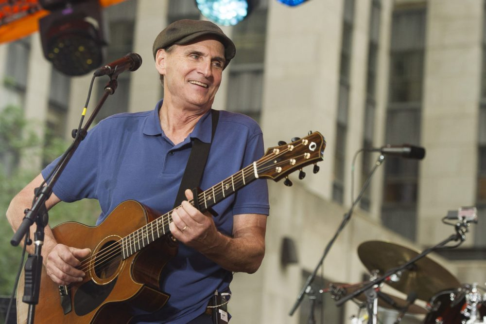 """James Taylor performs on NBC's """"Today"""" show during the Toyota Summer Concert Series on Monday, June 15, 2015, in New York. (Charles Sykes/Invision/AP)"""