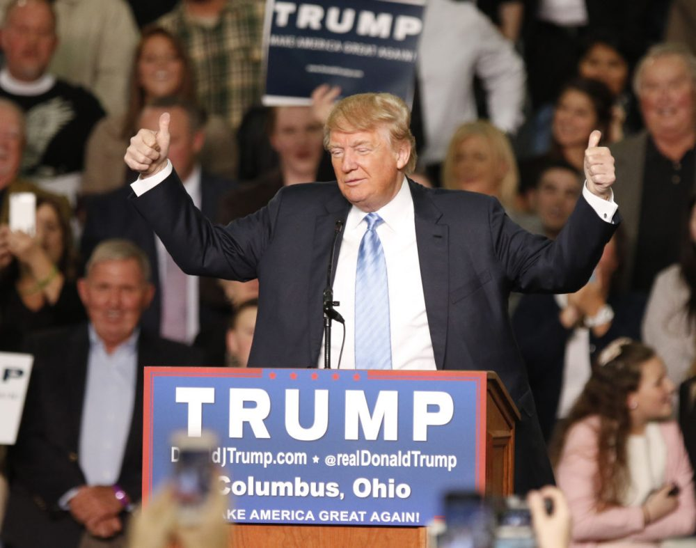 If Donald Trump ends up winning the GOP nomination, American politics will never be the same, writes Todd Domke. Pictured here, Trump speaks during a rally in Ohio on Monday. (Paul Vernon/AP)