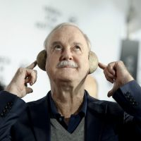 """John Cleese attends a special Tribeca Film Festival screening of """"Monty Python and the Holy Grail"""" at the Beacon Theatre on April 24, 2015, in New York. (Andy Kropa for Invision/AP)"""