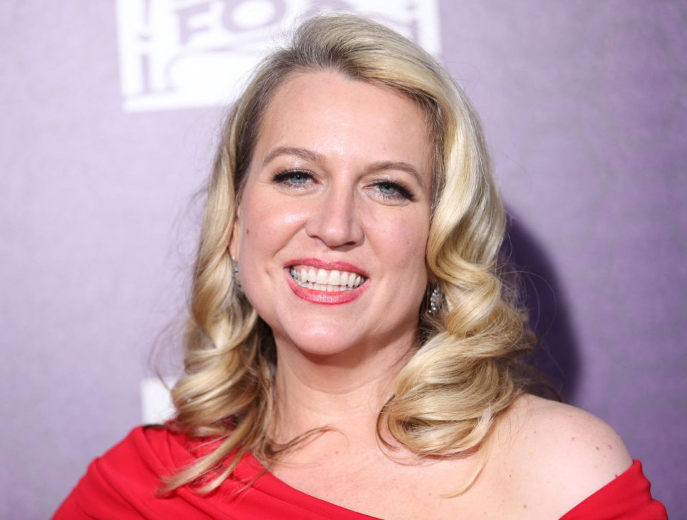 Cheryl Strayed arrives at the Fox Searchlight Golden Globes after-party at the Beverly Hilton Hotel January 2015. (Omar Vega/Invision/AP)