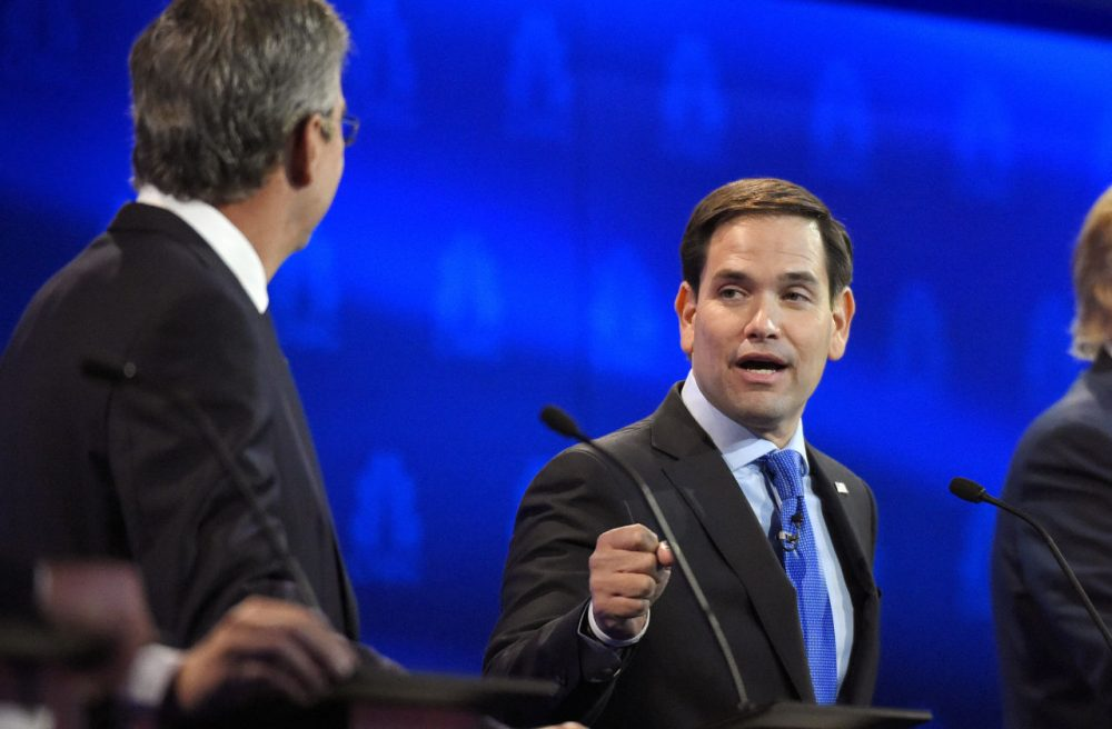 A new WBUR poll of likely New Hampshire Republican primary voters finds Marco Rubio won the latest GOP debate. (Mark J. Terrill/AP)