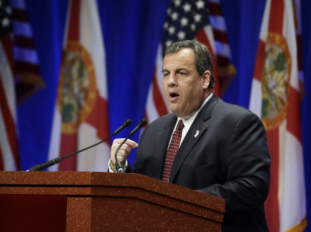 There was some controversy when a poll knocked GOP candidates Chris Christie, above, and Mike Huckabee off a Fox Business Channel debate. Pollster Steve Koczela likes CNN's new criteria better. (John Raoux/AP)