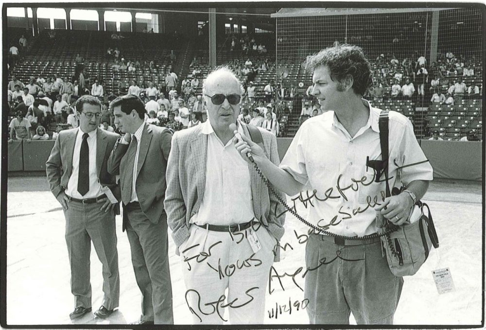 Bill and Roger Angell. (Courtesy of Bill Littlefield.)