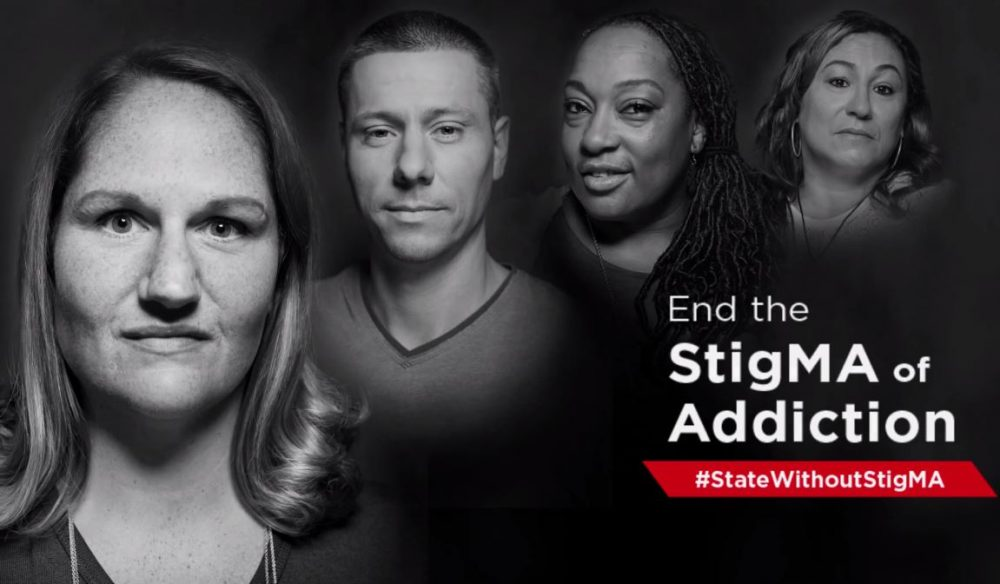 A screenshot from a new statewide media campaign, created by the state, about addiction (YouTube)
