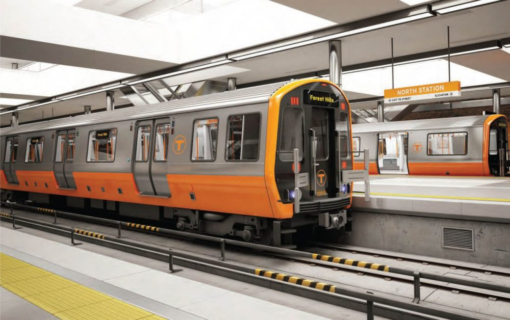 The exterior design chosen by the public for the Orange Line. (Courtesy MBTA)