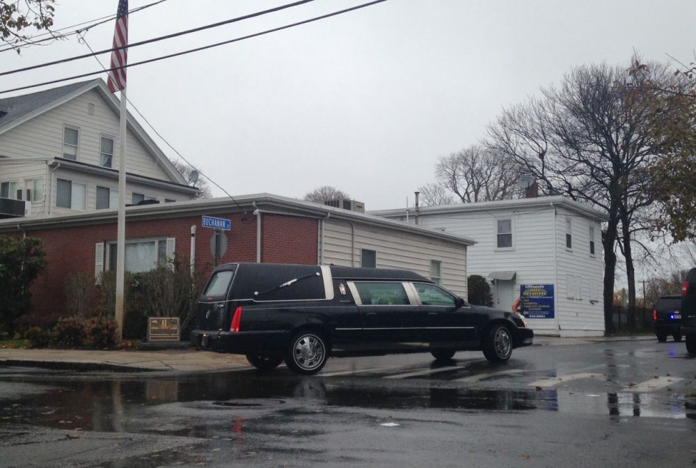 Bella Bond was laid to rest in a private service in Winthrop on Saturday. (Kassandra Sundt/WBUR)