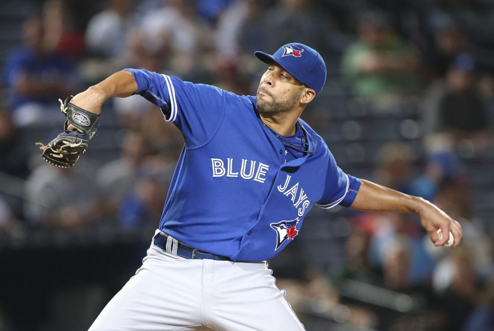 A source tells the AP that the Red Sox have agreed to a 7-year, $217 million deal with pitcher David Price. He's pictured here playing for the Toronto Blue Jays on Wednesday, Sept. 16, 2015. (John Bazemore/AP)