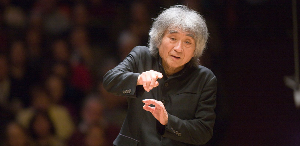 Ozawa conducts the BSO on Nov. 11, 2008. (Courtesy Michael Lutch/BSO)