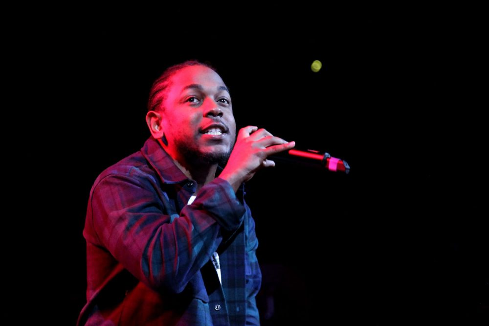 Rapper Kendrick Lamar performs onstage at the Barclays Center on October 22, 2015 in Brooklyn, New York. (Bennett Raglin/Getty Images for Power 105.1's Powerhouse 2015)