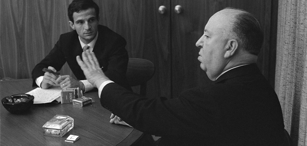 "This 1962 image shows Francois Truffaut, left, and director Alfred Hitchcock in a scene from Kent Jones's documentary, ""Hitchcock/Truffaut."" The new documentary by critic, filmmaker and New York Film Festival head Kent Jones, is about that extraordinary meeting and its long reverberations through cinema. (Philippe Halsman/Cohen Media Group)"