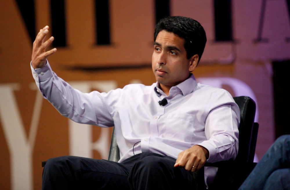 "Khan Academy founder and CEO Sal Khan speaks onstage during ""The State of Digital Education"" at the Vanity Fair New Establishment Summit at Yerba Buena Center for the Arts on October 8, 2014 in San Francisco, California.  (Kimberly White/Getty Images for Vanity Fair)"
