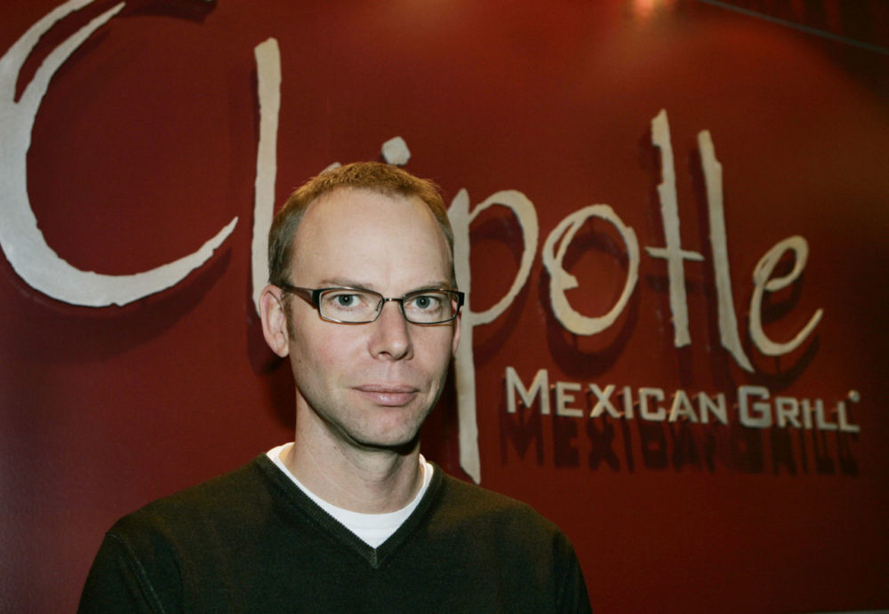 Steve Ells, the founder and CEO of Chipotle Mexican Grill, poses for a photograph in 2006 at the company's headquarters in Denver. (Ed Andrieski/AP)