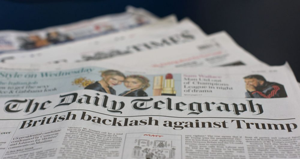 The British press reacted to comments by Republican Presidential candidate, Donald Trump, that the Metropolitan Police are scared to patrol certain Muslim areas of London. An online petition to ban Trump from entering Britain has garnered more than the 100,000 signatures required to force a House of Commons debate.  (Ben Pruchnie/Getty Images)