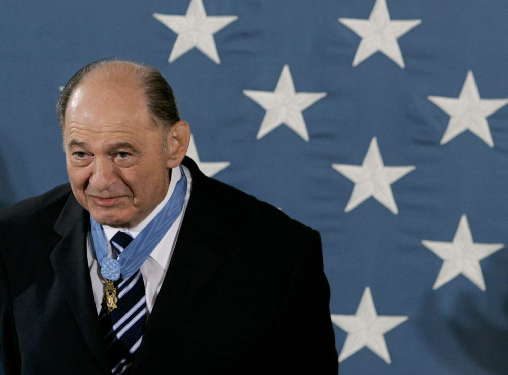 Corporal Tibor Rubin is applauded after receiving the Medal of Honor during a ceremony in the East Room of the White House on September 23, 2005, in Washington D.C. Rubin, a Holocaust survivor born in Hungry, served in the U.S. Army and served in the Korean War received the Nation?s highest honor for his courageous actions during the war.  (Mark Wilson/Getty Images)