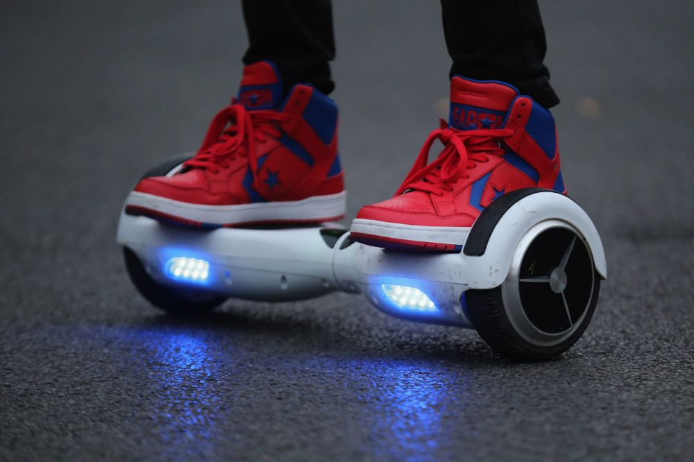 Some brands of hoverboards, the two-wheeled motorized scooters that do not actually hover, are being pulled from the shelves. (Christopher Furlong/Getty Images)