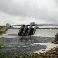 The Holloway Dam, pictured here, creates the Holloway Reservoir which was constructed to provide water to the city of Flint, Mich., by way of the Flint River. The city switched drinking water supply from Detroit back to the Flint River in 2014. Since then, many residents have complained of high lead levels in the water. (Tony Faiola/Flickr)