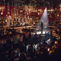 """The immersive set of """"Natasha, Pierre and The Great Comet of 1812"""" at the American Repertory Theater. (Courtesy Gretjen Helene/American Repertory Theater)"""