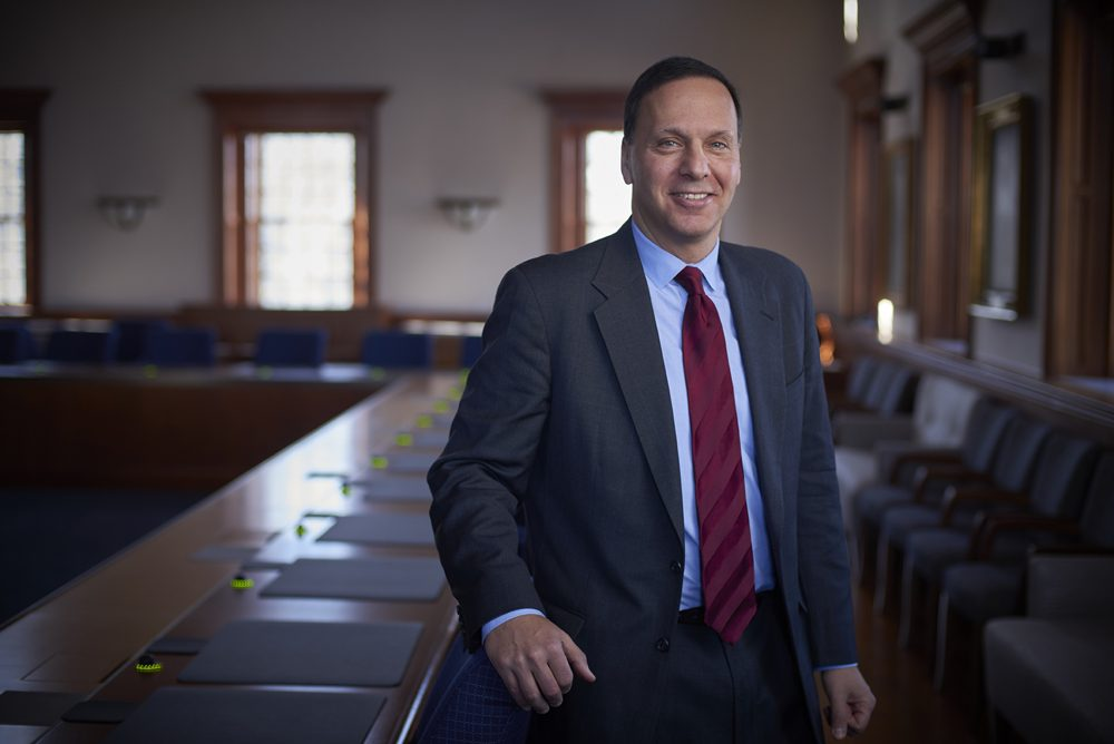 Ronald Liebowitz, the former head of Middlebury College in Vermont, will take over as Brandeis' new president in July. (Courtesy Brandeis/Brett Simison)