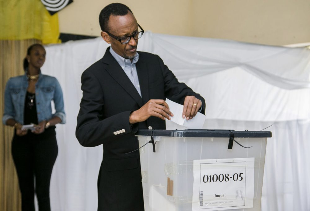 Rwandan President Paul Kagame casts his ballot in Kigali on December 18 in a referendum to amend the constitution allowing him to rule until 2034. Long lines of Rwandans queued to vote, with few expecting the changes to be rejected. The proposed amendments have been denounced by Washington and Brussels as undermining democracy in the central African country. (Cyril Ndegeya/AFP/Getty Images)