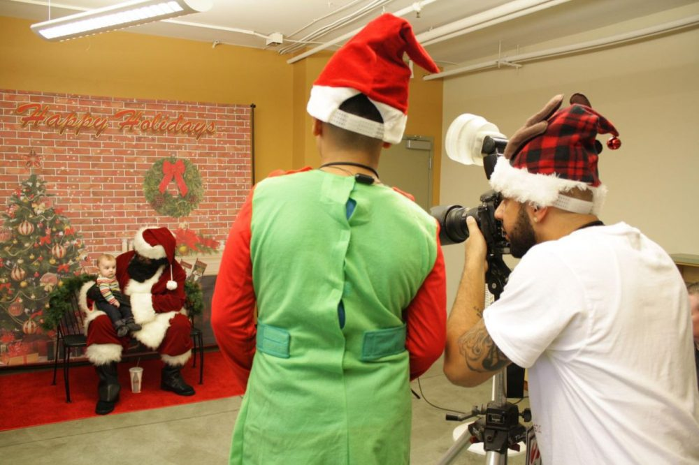 A Seattle initiative aims to give kids the chance to take a photo with a black Santa. (Joshua McNichols/KUOW)