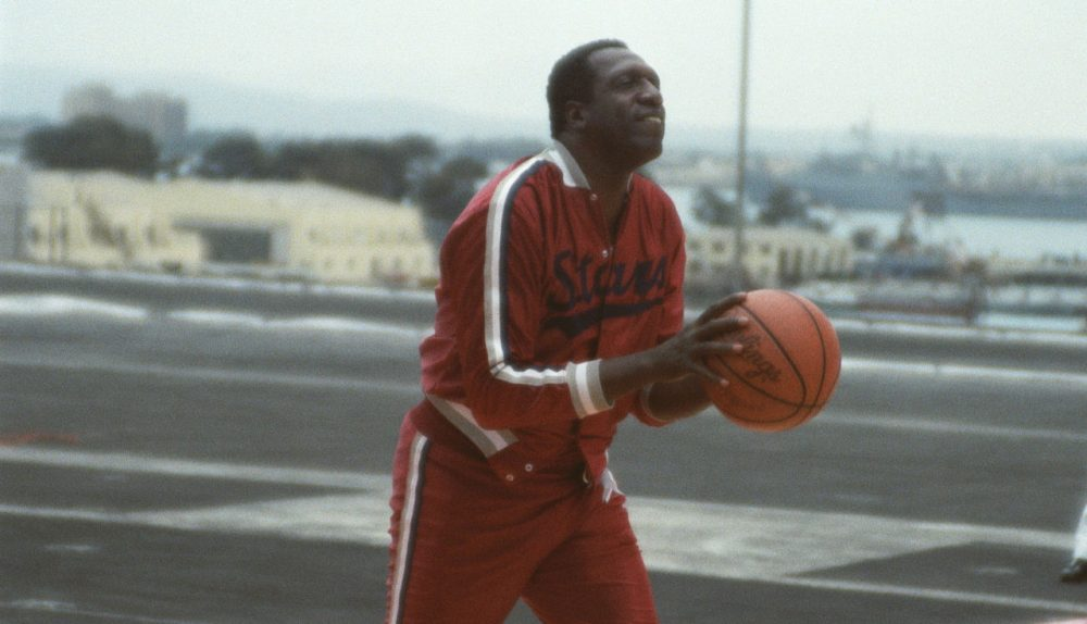 Star player Meadowlark Lemon warms up for a game. (US Navy/Wikimedia Commons)