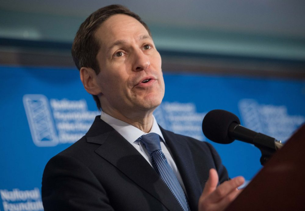 Tom Frieden, Director of the Centers for Disease Control and Prevention (CDC) speaks during the Influenza Outlook 2015-2016 press conference at the National Press Club in Washington, DC, on September 17.   (Nicholas Kamm/AFP/Getty Images)