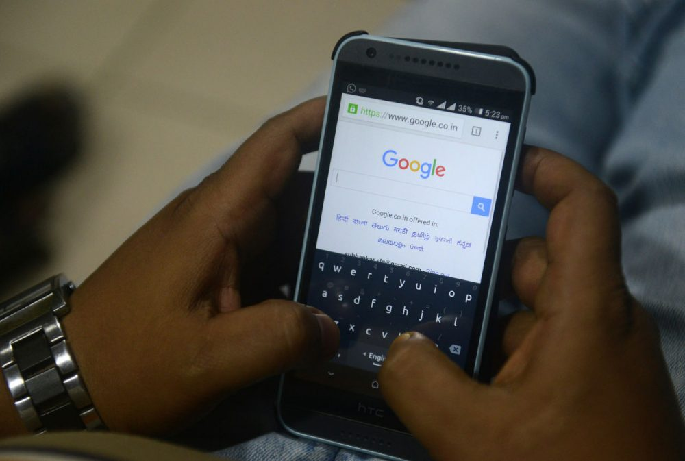 Google's VP of search says the search engine behaves like a 7-10 year old. (Diptendu Dutta/AFP/Getty Images)