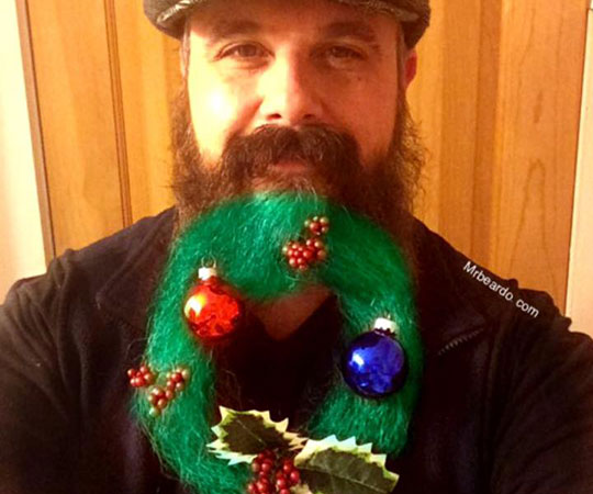 how one heroic man transformed his beard into a christmas wreath and you can too the artery - Christmas Beard