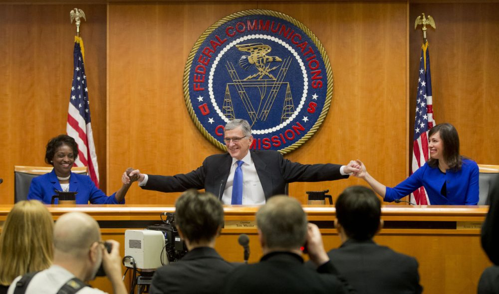 "Federal Communication Commission (FCC) Chairman Tom Wheeler announced it would regulate the Internet like a public utility in February, banning companies from ""unjust or unreasonable"" business practices. (Pablo Martinez Monsivais/AP)"