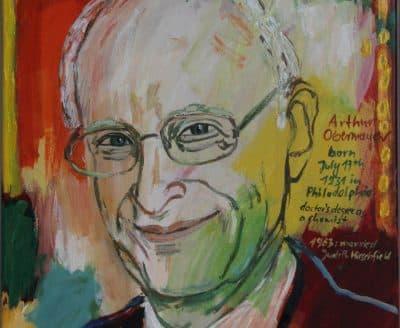 Portrait of Arthur Obermayer, oil on canvas, 2015, by awardee Marlis Glaser. (Courtesy of Karl Branz, Attenweiler)